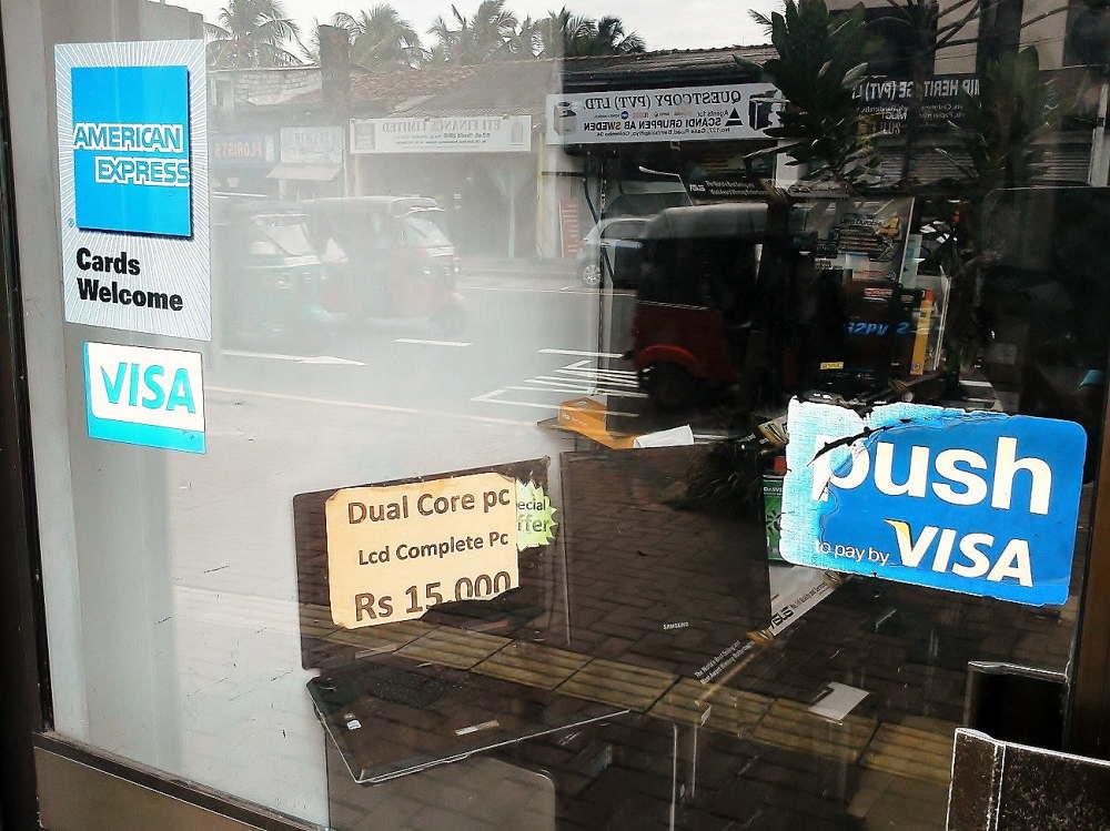 スリランカで使えるクレジットカード