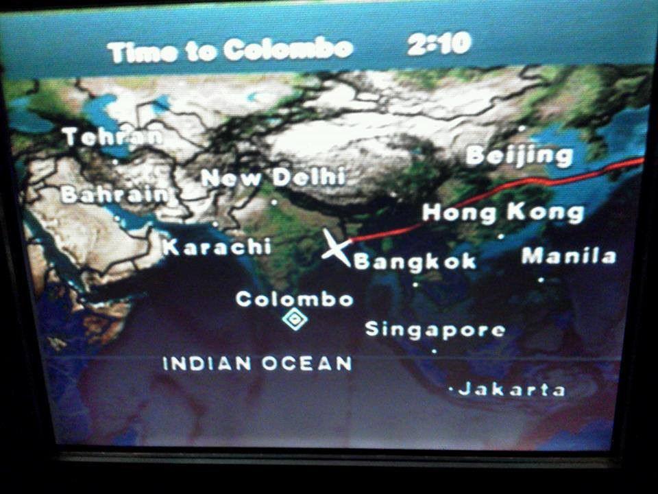 スリランカ航空機内