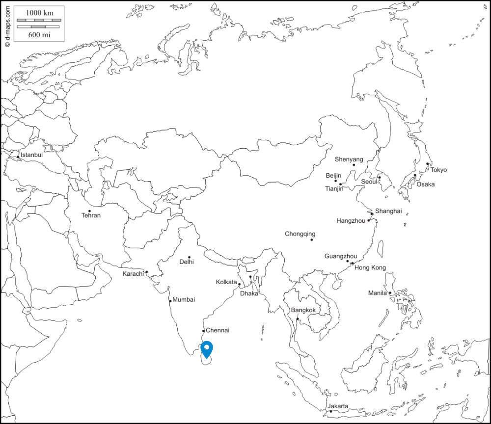 スリランカ 位置